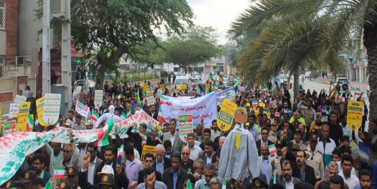 راهپیمایی مردم قشم در حمایت از سپاه پاسداران جمعه برگزار میشود