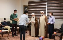 تجلیل امام جمعه از گروه هنری جنت البقیع