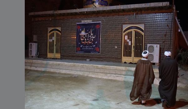 عکس|بازدید امام جمعه شهرستان قشم از مساجد در دومین شب از لیالی قدر